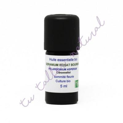 Aceite esencial de geranio Bourbon BIO 5 ml. - Essenciagua