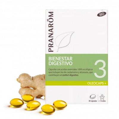 Pranarôm Oleocaps 3- Bienestar Digestivo- 30 cápsulas