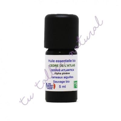 Aceite esencial de cedro del Atlas (agujas) silvestre BIO 5 ml. - Essenciagua