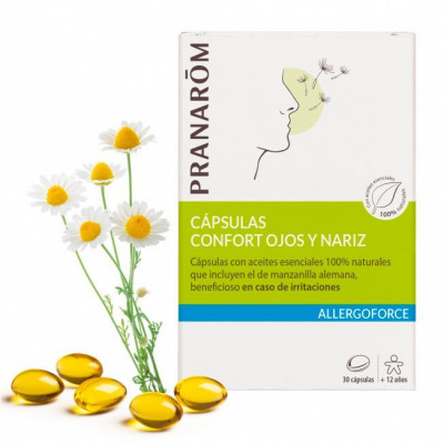 Pranarôm Cápsulas Confort Ojos y Nariz - 30 cápsulas- Allergoforce